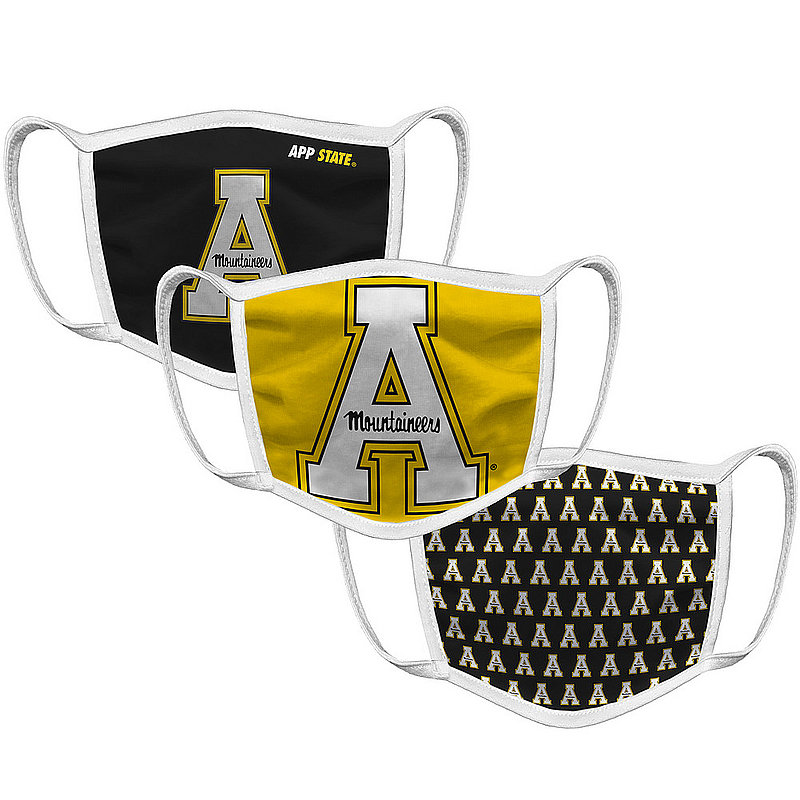 Original Retro Brand Appalachian State Mountaineers Face Covering 3-Pack APPMSK101A-APPMSK106A-APPMSK127A (Original Retro Brand)