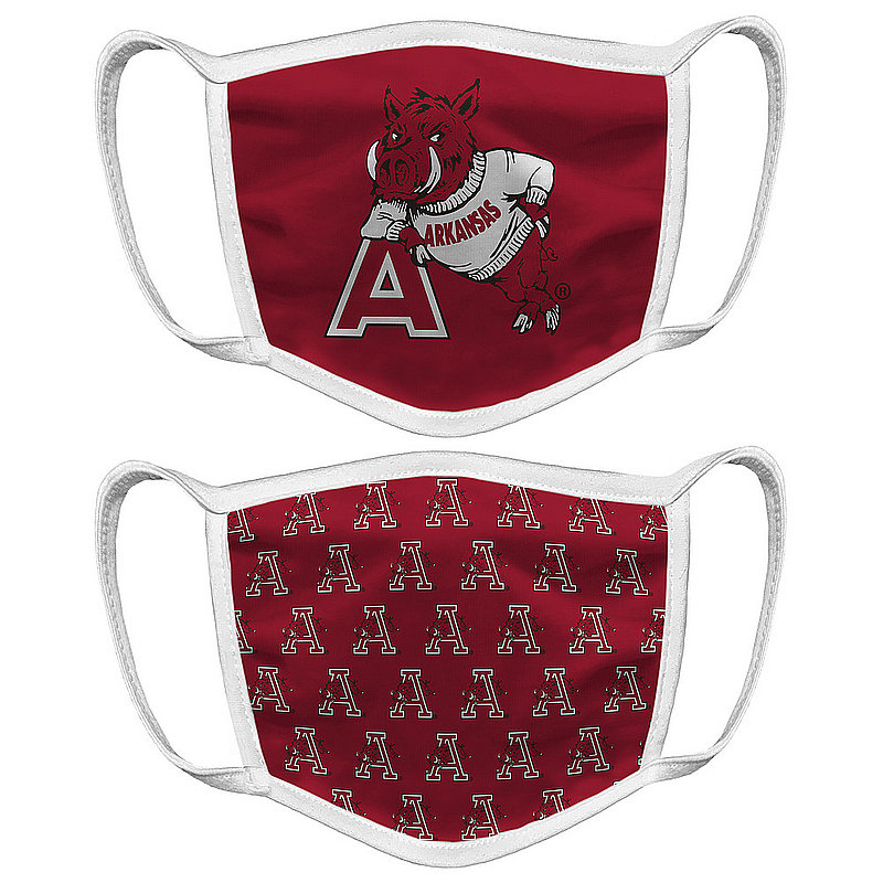 Original Retro Brand Arkansas Razorbacks Retro Face Covering Vault 2-Pack ARKMSK050A-ARKMSK057A (Original Retro Brand)