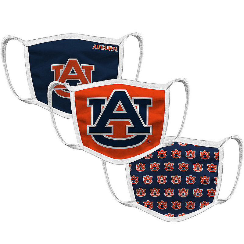 Original Retro Brand Auburn Tigers Retro Face Covering 3-Pack AUBMSK101A-AUBMSK106A-AUBMSK127A (Original Retro Brand)