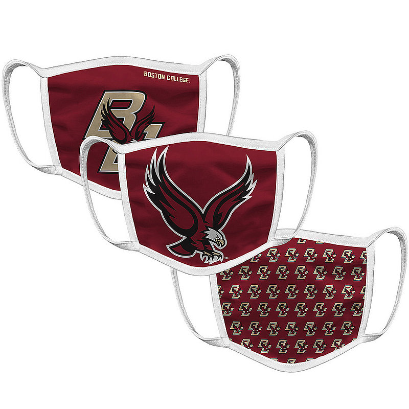 Original Retro Brand Boston College Eagles Retro Face Covering 3-Pack BSCMSK101A-BSCMSK106A-BSCMSK127A (Original Retro Brand)