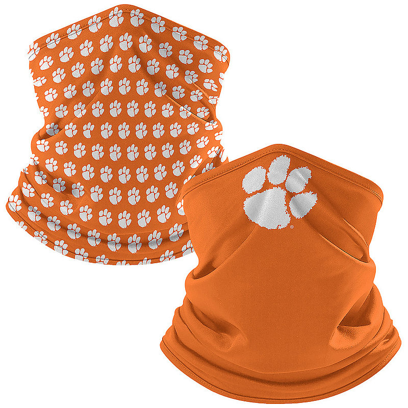 Clemson Tigers Retro Face Covering Gaiters 2-Pack