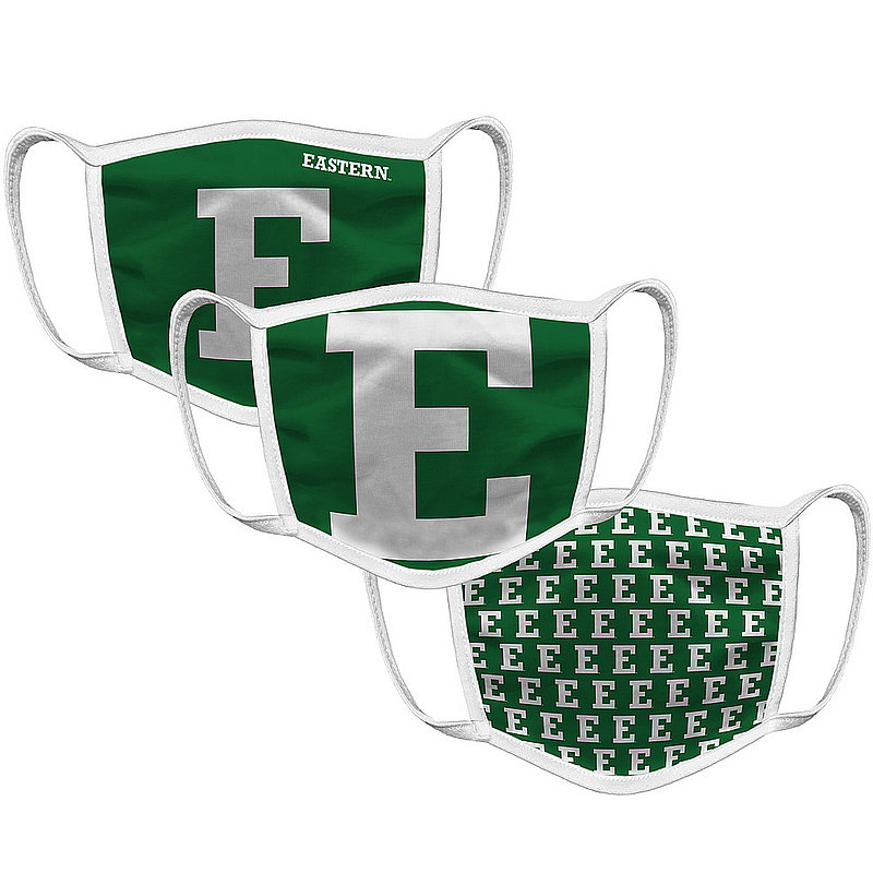Original Retro Brand Eastern Michigan Eagles Retro Face Covering 3-Pack EMIMSK101A-EMIMSK06A-EMIMSK127A (Original Retro Brand)