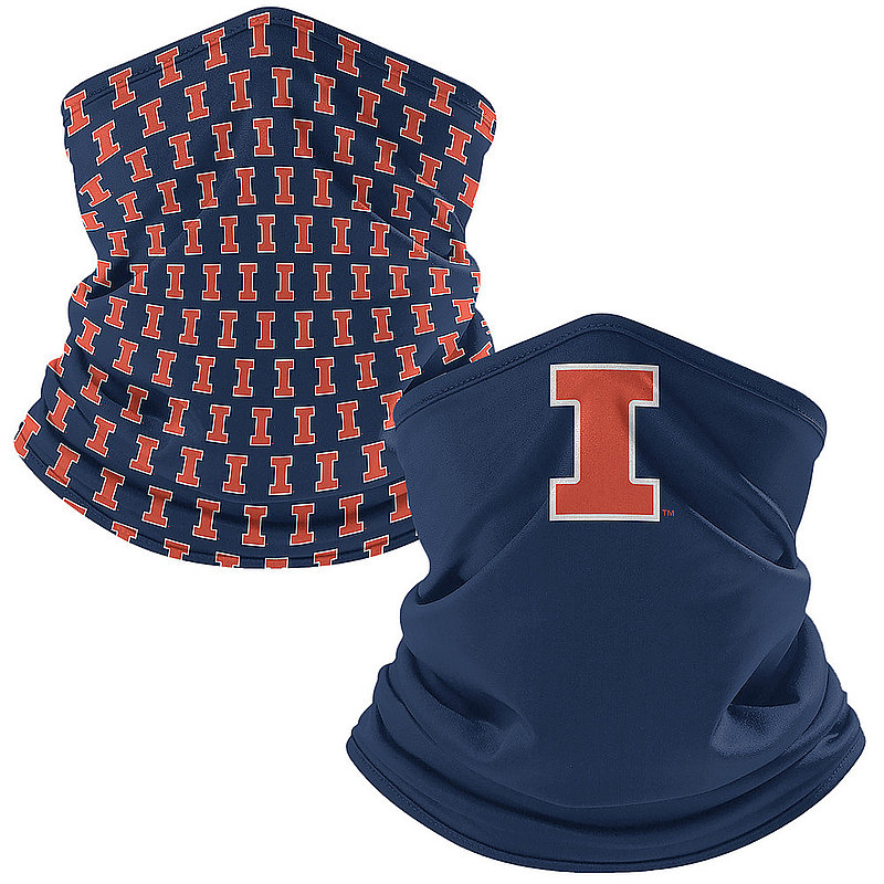 Original Retro Brand Illinois Fighting Illini Retro Face Covering Gaiters 2-Pack ILLNCK005A-ILLNCK106A (Original Retro Brand)