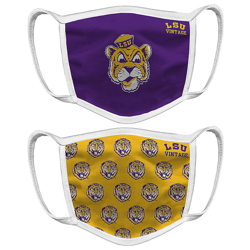 LSU Tigers Retro Face Covering Vault 2-Pack