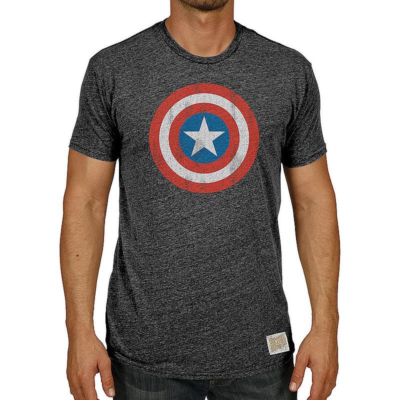 Original Retro Brand Marvel Captain America Retro TriBlend Tshirt Charcoal MVL067A_RB120M_STB (Original Retro Brand)