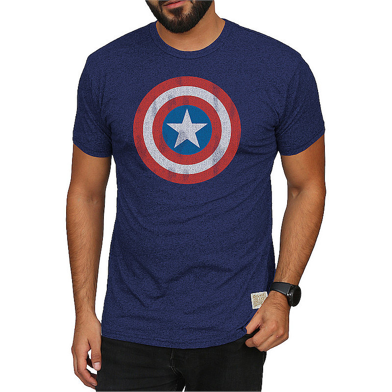 Original Retro Brand Marvel Captain America Retro Tshirt Navy MVL067A_RB124M_MTNV (Original Retro Brand)