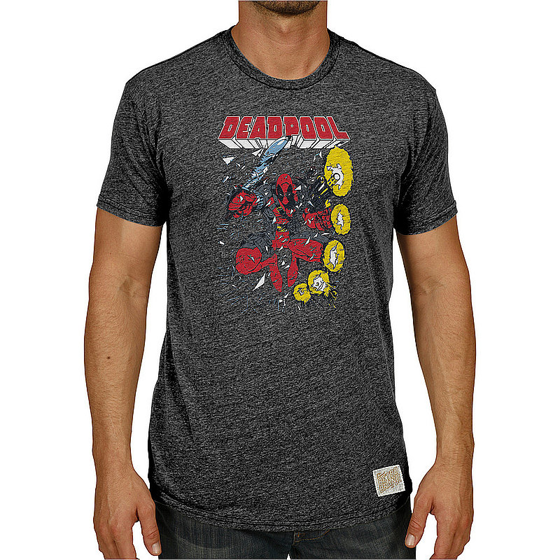 Original Retro Brand Marvel Deadpool Retro TriBlend Tshirt Charcoal MVL173A_RB120M_STB (Original Retro Brand)