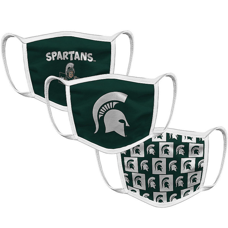 Original Retro Brand Michigan State Spartans Retro Kids Face Covering 3-Pack MSUMSK133S-MSUMSK146S-MSUMSK147S (Original Retro Brand)