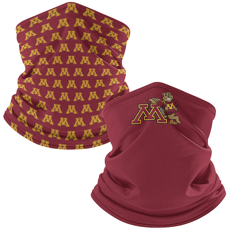 Minnesota Golden Gophers Retro Face Covering Gaiters 2-Pack