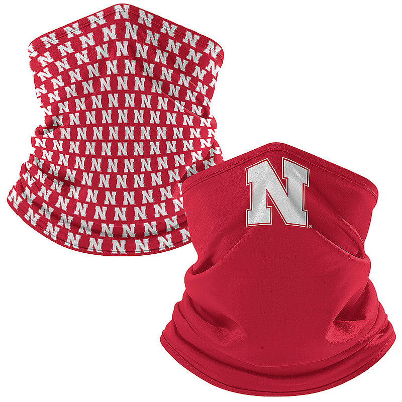 Original Retro Brand Nebraska Cornhuskers Retro Face Covering Gaiters 2-Pack NEBNCK005A-NEBNCK106A (Original Retro Brand)