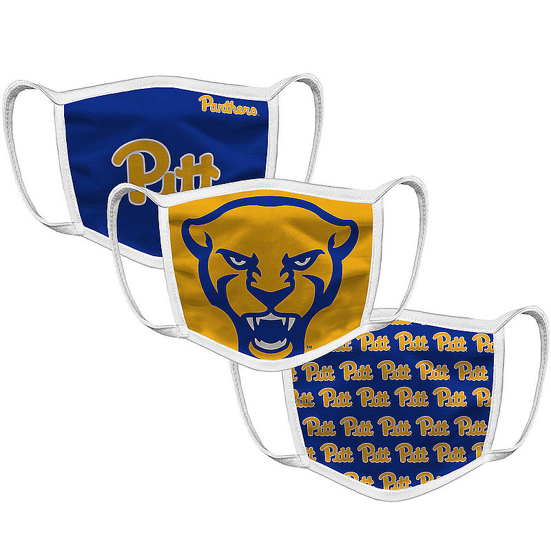 Original Retro Brand Pittsburgh Panthers Retro Face Covering 3-Pack PITMSK101A-PITMSK106A-PITMSK127A (Original Retro Brand)