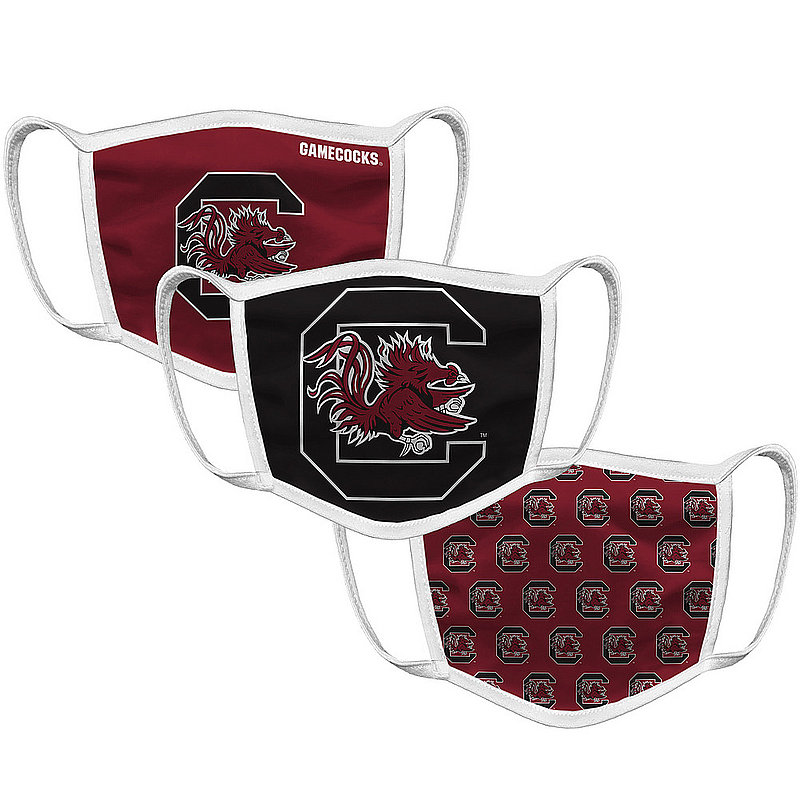 South Carolina Gamecocks Retro Face Covering 3-Pack