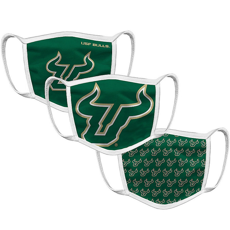 South Florida Bulls Retro Face Covering 3-Pack