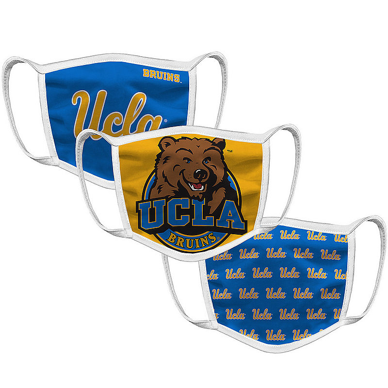 Original Retro Brand UCLA Bruins Retro Face Covering 3-Pack CLAMSK101A-CLAMSK106A-CLAMSK127A (Original Retro Brand)