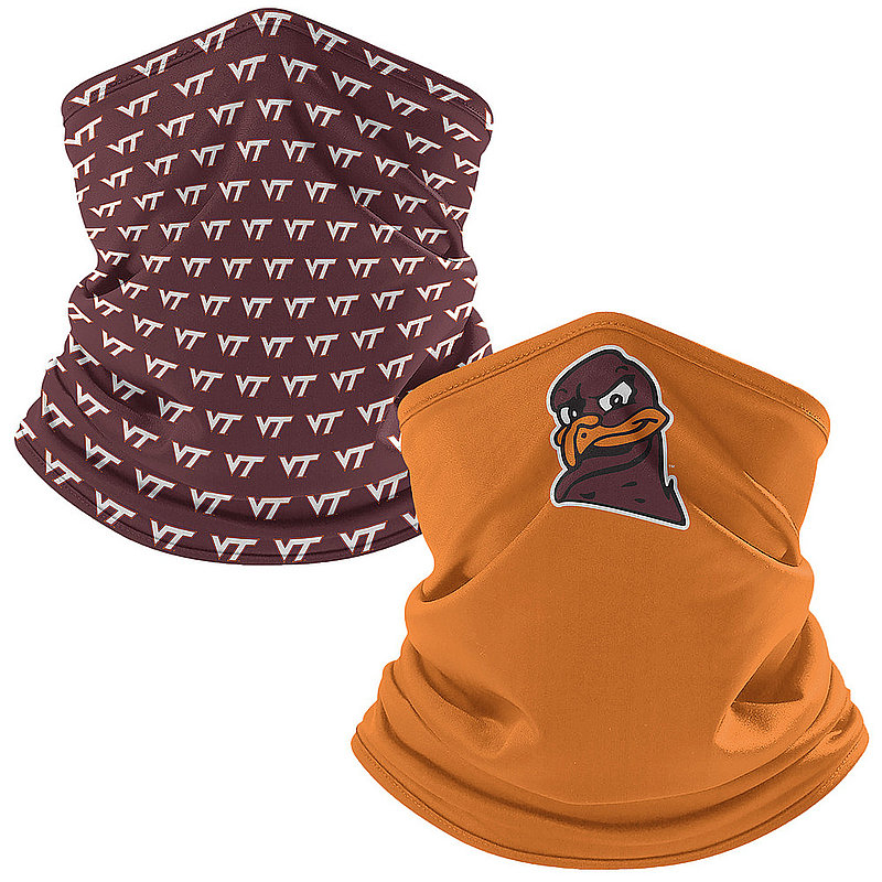 Original Retro Brand Virginia Tech Hokies Retro Face Covering Gaiters 2-Pack VATNCK005A-VATNCK106A (Original Retro Brand)