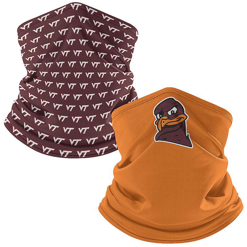 Virginia Tech Hokies Retro Face Covering Gaiters 2-Pack