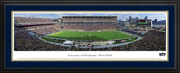 Panthers, Deluxe Framed And Matted University Of Pittsburgh At Heinz Field Panoramic Print BW-UPITT1D