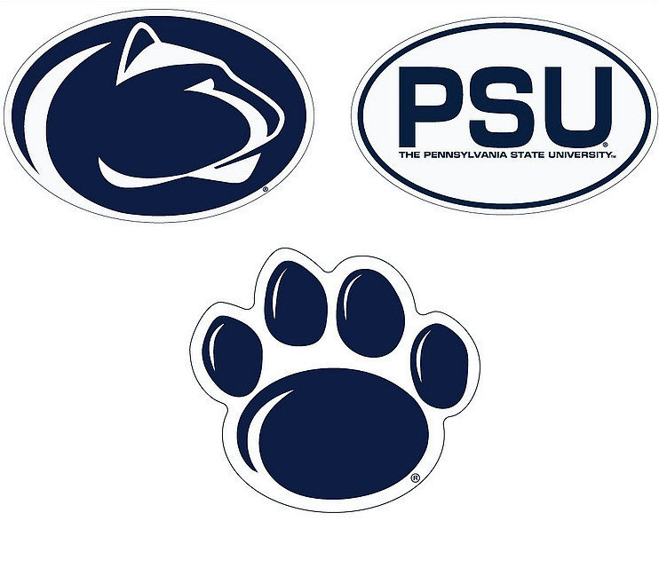 """Penn State Nittany Lions 6"""" Vinyl Decal 3-Pack DPSU01"""