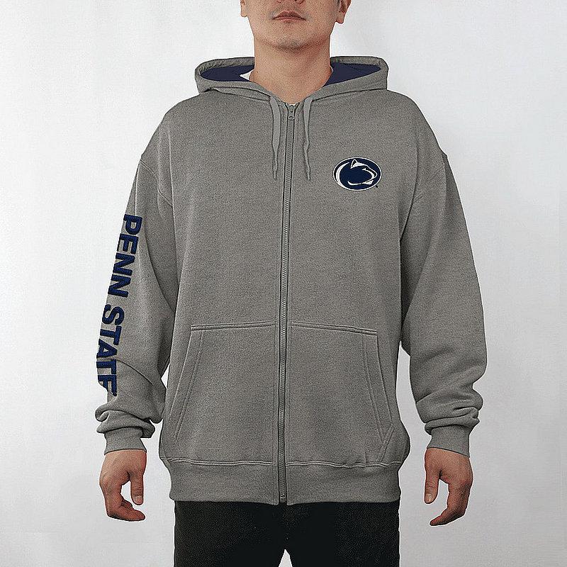 Penn State Nittany Lions Full Zip Hooded Sweatshirt Captain Gray PST29465