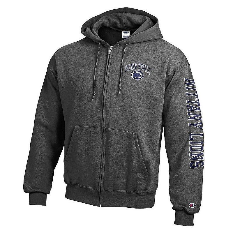 Penn State Nittany Lions Full Zip Hooded Sweatshirt Letterman Charcoal APC02973473/APC02973476