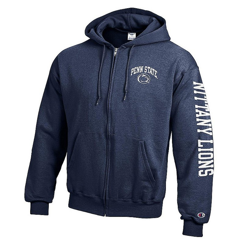 Penn State Nittany Lions Full Zip Hooded Sweatshirt Letterman Navy APC02983661/APC02973471