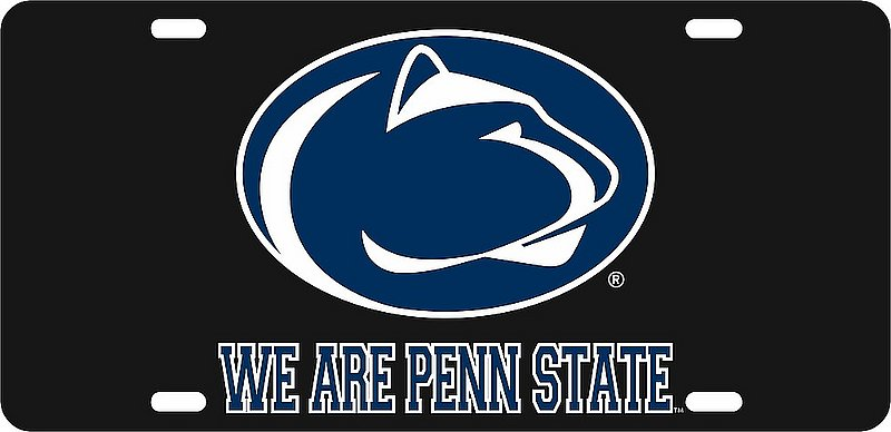 Penn State Nittany Lions License Plate Black 01094