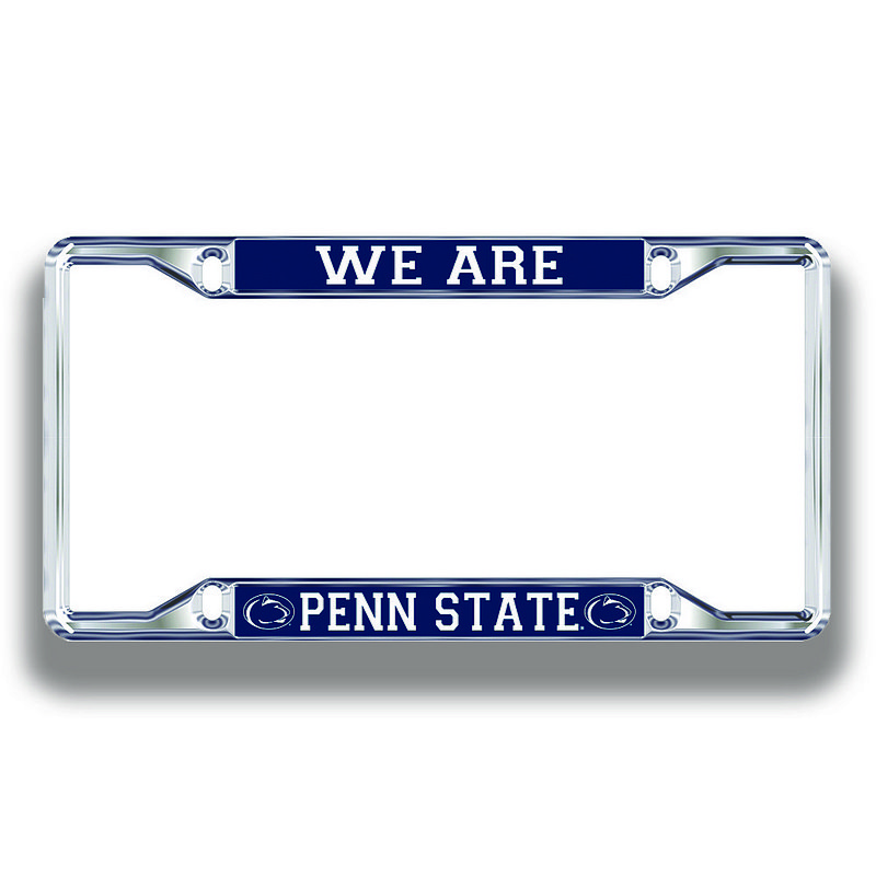 Penn State Nittany Lions License Plate Frame Silver 01090