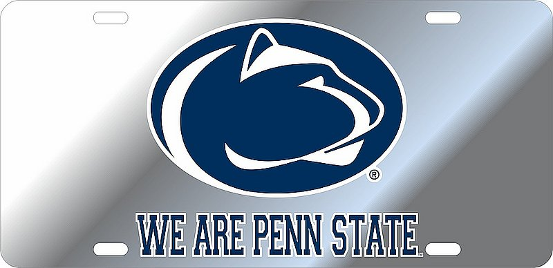 Penn State Nittany Lions License Plate Silver 01093
