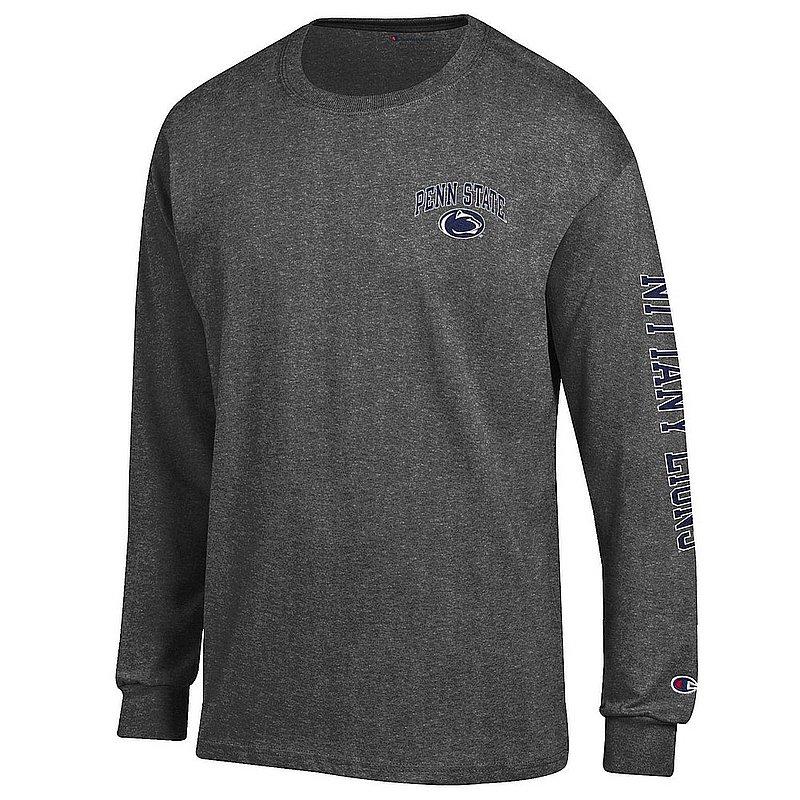 Penn State Nittany Lions Long Sleeve TShirt Letterman Charcoal APC02973473/APC02973476