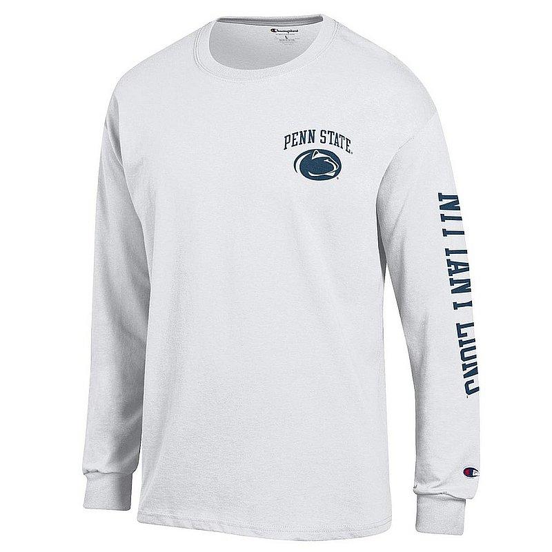 Penn State Nittany Lions Long Sleeve Tshirt Letterman White