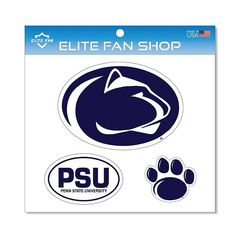 Penn State Nittany Lions Magnet 3-Pack Navy
