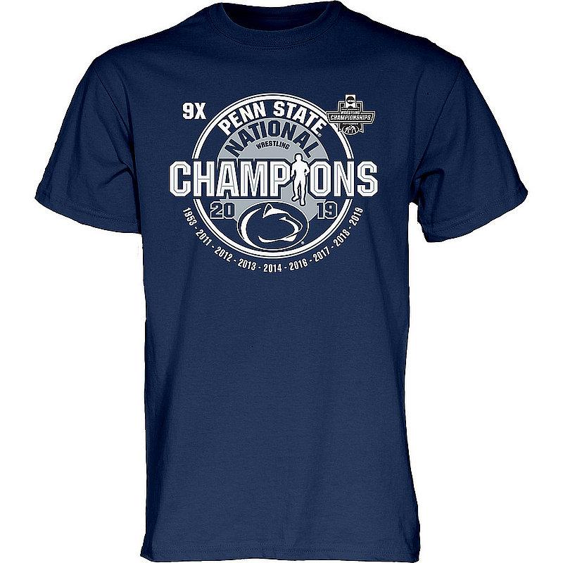 Penn State Nittany Lions National Wrestling Champs Tshirt 2019 Navy 9X CHEAP POP
