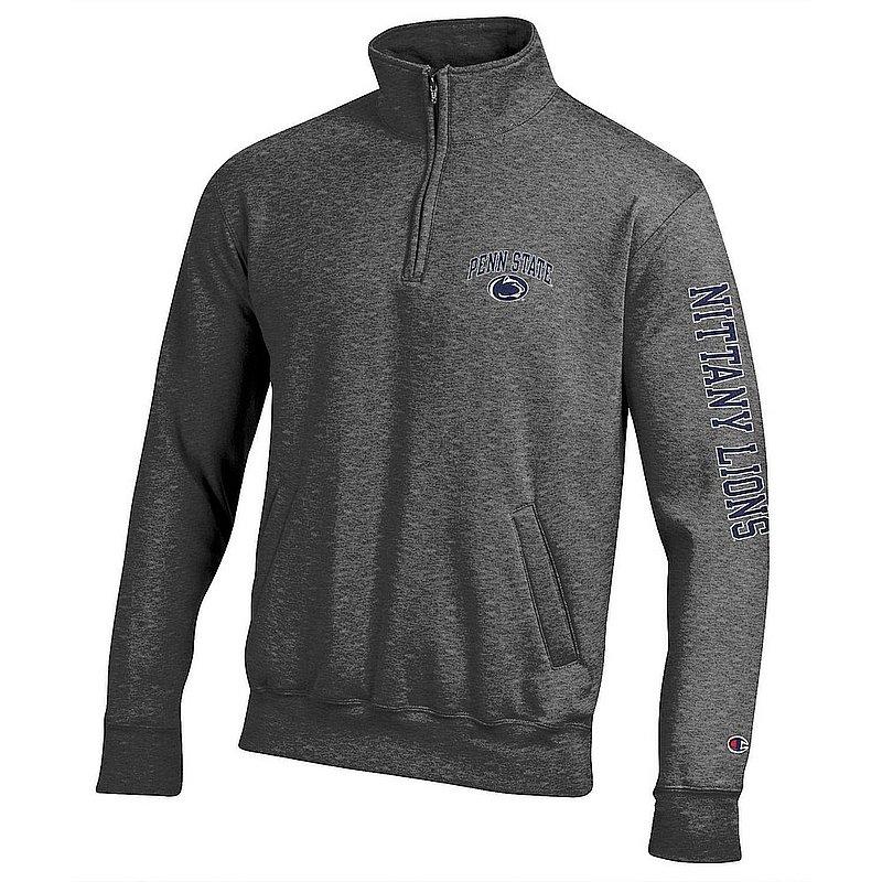 Penn State Nittany Lions Quarter Zip Sweatshirt Letterman Charcoal APC02973473/APC02973476