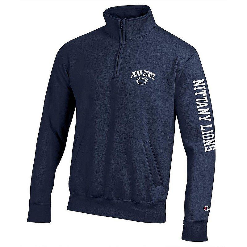 Penn State Nittany Lions Quarter Zip Sweatshirt Letterman Navy APC02983661/APC02973471