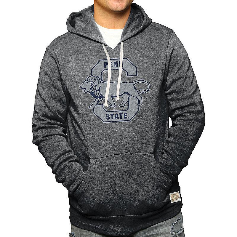 Penn State Nittany Lions Retro Hooded Sweatshirt Charcoal Vault CPNN101B_RB6090M_BKF