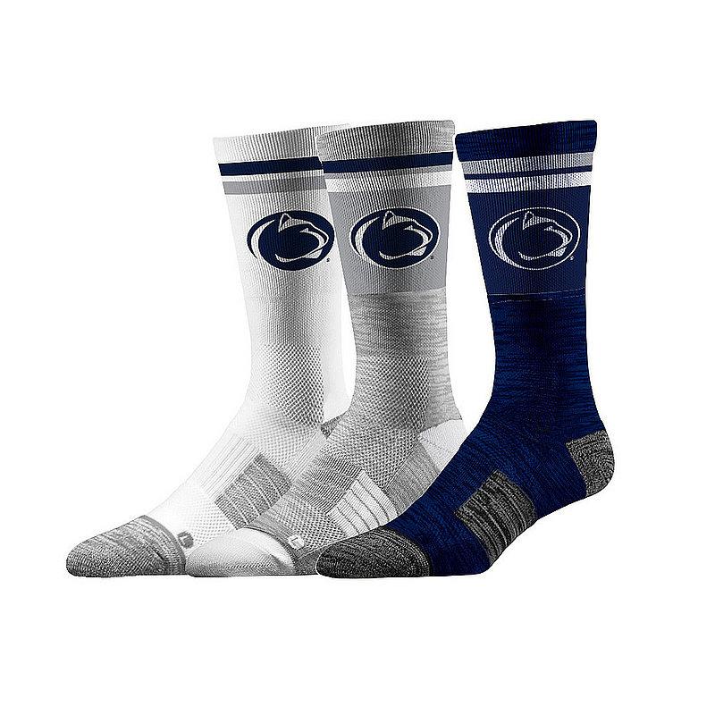 Penn State Nittany Lions Socks 3-Pack Retro Stripe