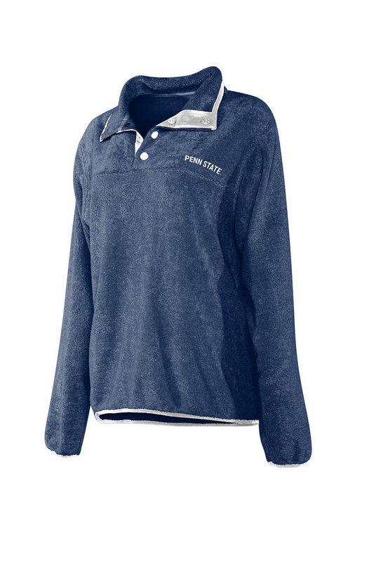 Penn State Nittany Lions Women's Snap Pullover Sweatshirt 439-13-PS441