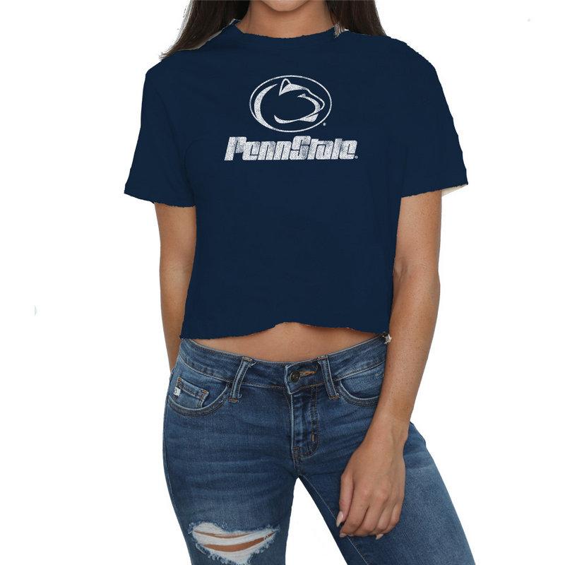 Penn State Nittany Lions Womens Crop TShirt CPNN124A_NAV