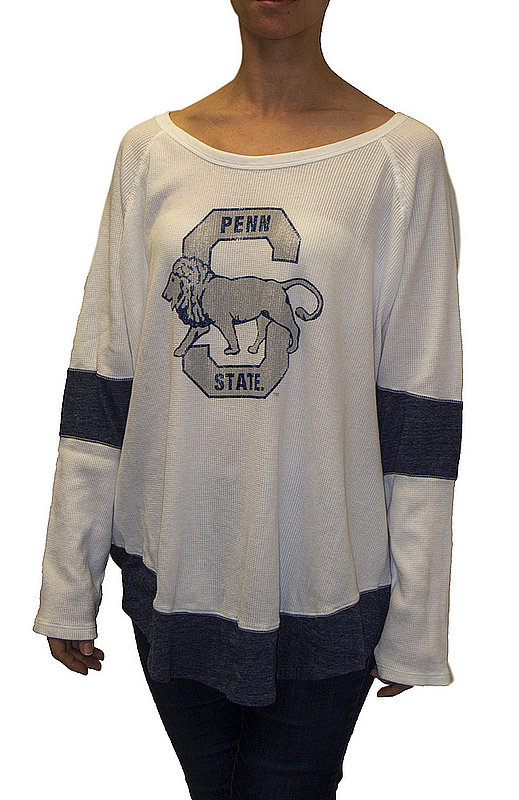 Penn State Nittany Lions Womens Thermal Long Sleeve Shirt CPNN101S_RB1906M_STN