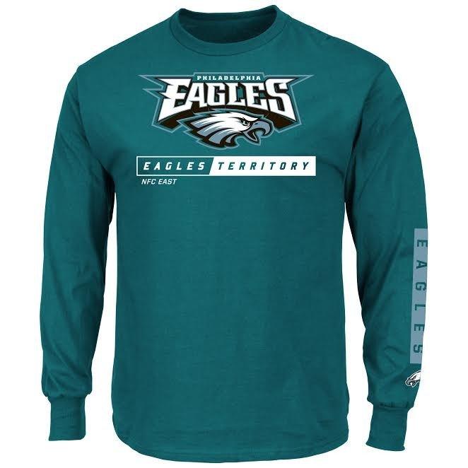f4de1480 Philadelphia Eagles Long Sleeve Tshirt Green K717-26-86-2YZ