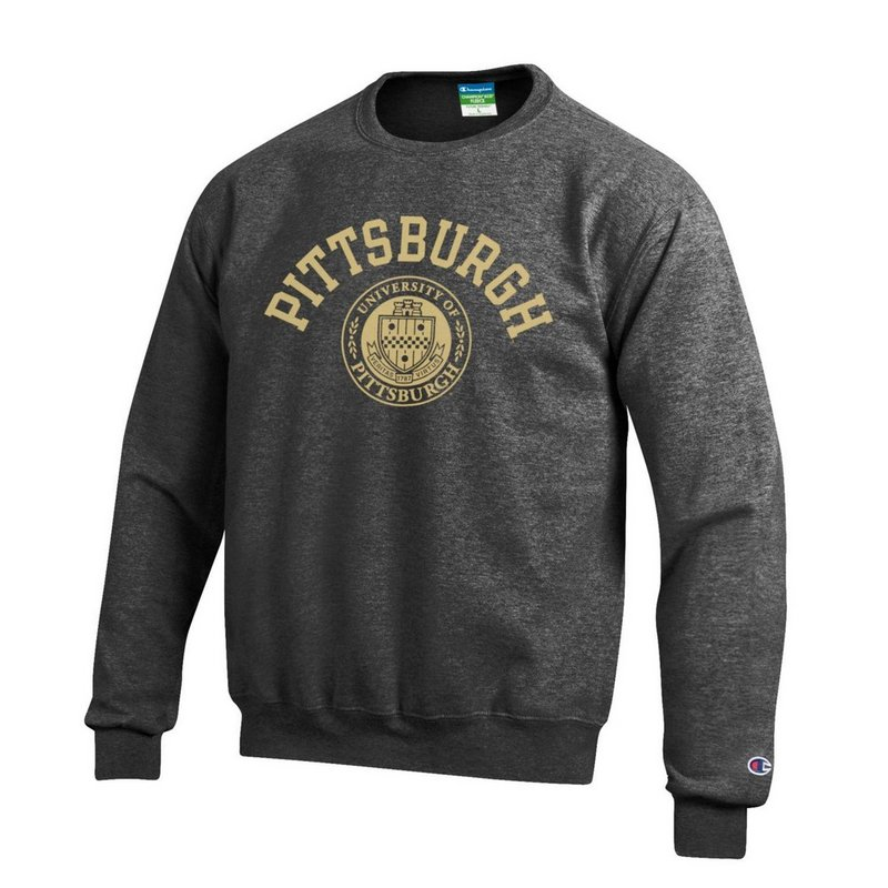 Pitt Panthers Crewneck Sweatshirt Seal Charcoal APC02928121