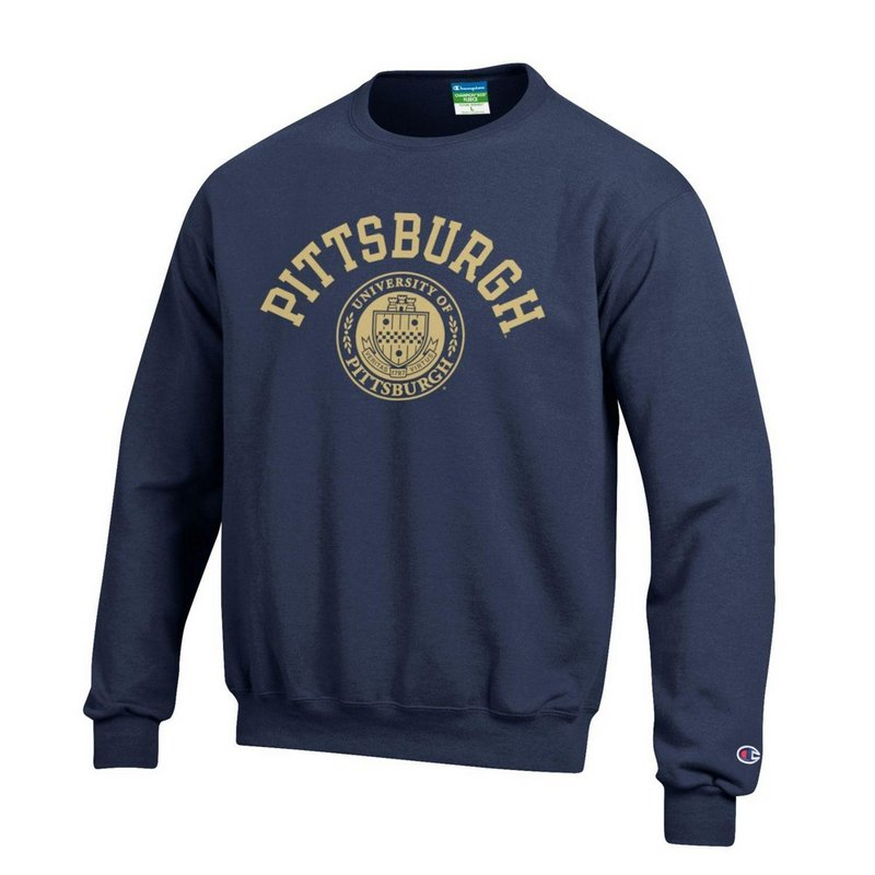 Pitt Panthers Crewneck Sweatshirt Seal Navy APC02928121