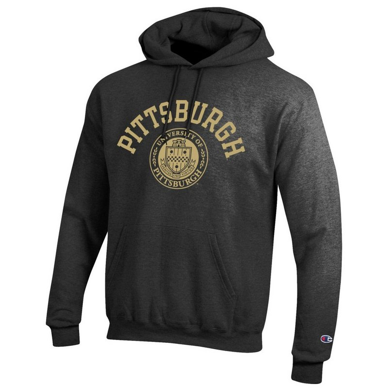 Pitt Panthers Hooded Sweatshirt Seal Charcoal APC02928121