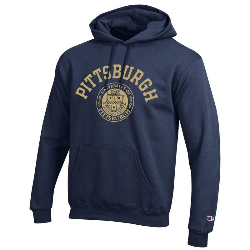 Pitt Panthers Hooded Sweatshirt Seal Navy APC02928121