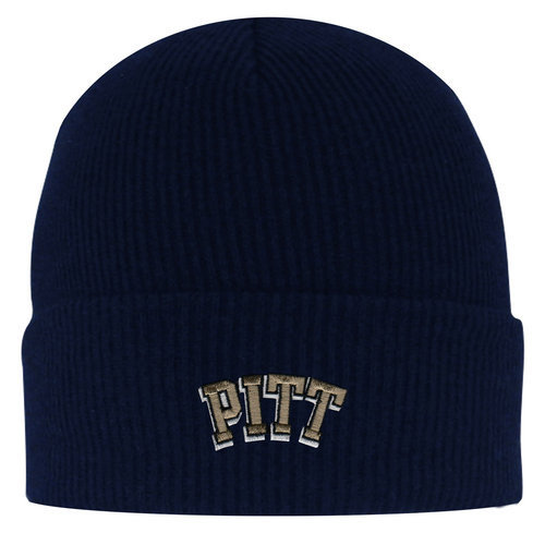 b2ecbbcfccea0 Pitt Panthers Knit Winter Hat with Fold Navy