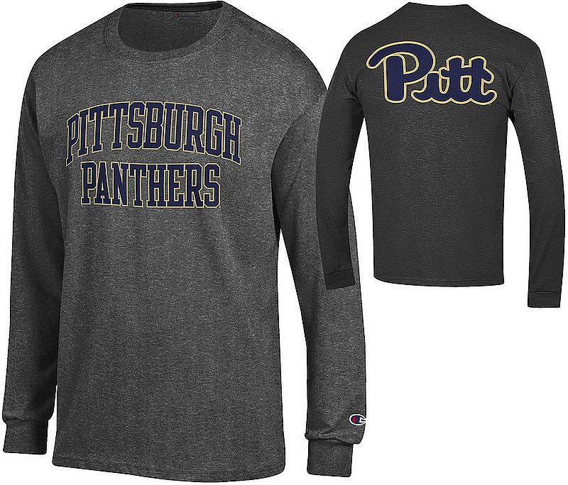 Pitt Panthers Long Sleeve TShirt Back Charcoal APC03010021/APC03026758