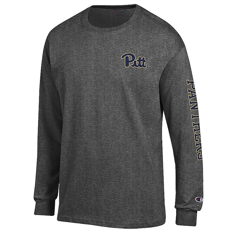 Pitt Panthers Long Sleeve Tshirt Letterman Charcoal APC02973747/APC02973748