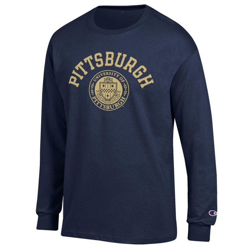 Pitt Panthers Long Sleeve Tshirt Seal Navy APC02928121