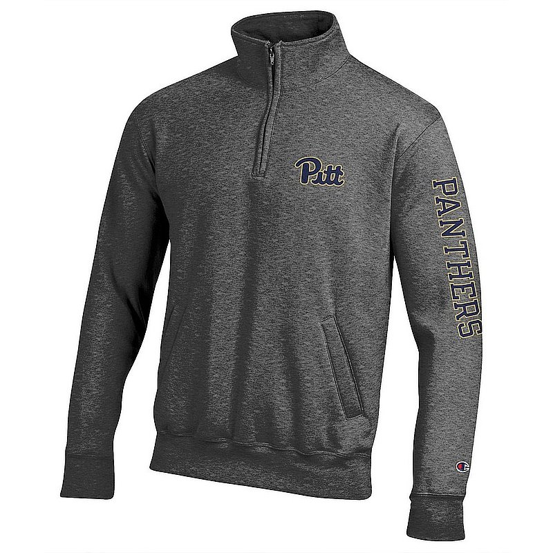 Pitt Panthers Quarter Zip Sweatshirt Letterman Charcoal APC02973747/APC02973748