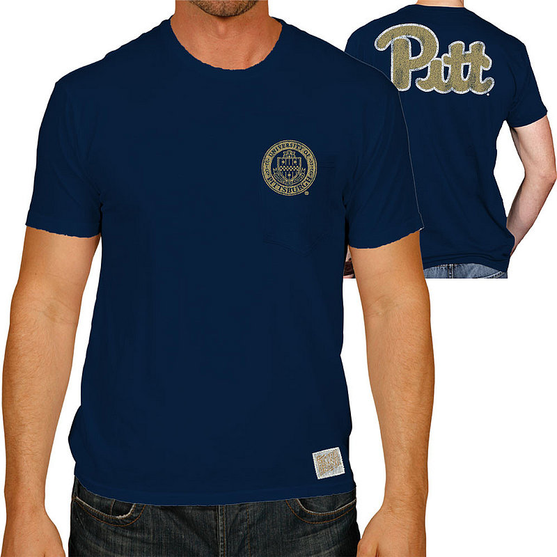 Pitt Panthers Retro Pocket Tshirt Navy RB128